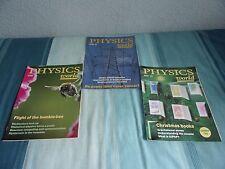 3 Physics World Magazines October, November and December 1996 used