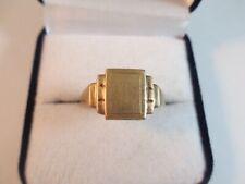 FABULOUS GENUINE ART DECO 9ct GOLD SIGNET RING, LONDON 1938. UK SIZE S1/2  4.3g