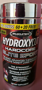 Hydroxycut Hardcore Elite Sport BONUS SIZE (80 Capsules) Advanced Weight Loss