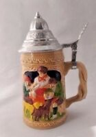 Collectible Family Picture with Dogs Stein