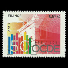 France 2011 - 50th Anniversary of the OECD - Sc 4044 MNH