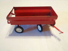 vintage red metal trailer wagon 4 original tires 4x8x4 end flips up to unload
