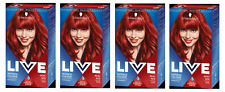 4X Schwarzkopf Live Color Colour Intense Real Red 35