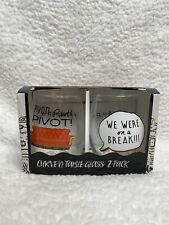 New listing *New* Rare Friends Pivot / We Were On A Break Curved Table Glasses 2 Pack
