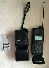 RARE Vintage MOTOROLA Mobile PHONE Model mr1 SUF1706E battery+leather case+card