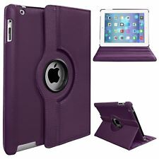 Leather 360 Rotating Smart Stand Case Cover For APPLE iPad 2 3 4 iPad Air & Mini