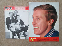 Karl Denver -  great original colour pic + B/W  from the 1960s. 12 x 9 inches.