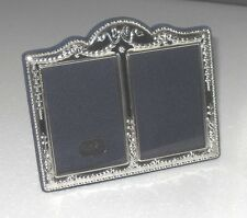 VINTAGE STYLISH 1996 STERLING SILVER EASEL DOUBLE PHOTO PICTURE FRAME ANTIQUE