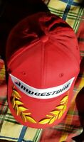 Bridgestone F1 Baseball Cap Racing Motorsport Red , Gold Leaf