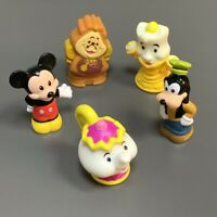Lot 5Pcs Fisher-Price Little People Disney Cogsworth Mrs. Potts Goofy Figure Toy