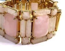 Kate Spade Set in Stone Bracelet NWT SOLD OUT Rare Find! Pink Natural Stones