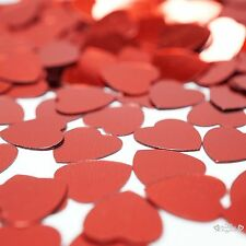 Table Party Scatters Confetti 100grams Foil Heart Wedding Decorations Red