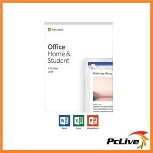 NEW Microsoft Office Home and Student 2019 Retail 1 PC MAC Word Excel PowerPoint
