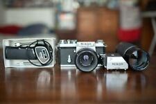 Nikon F Photomic + 2 Lenses + Grip