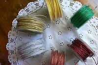 Solid FUCHSIA CORD Wired Iridescent 5 Met & other Lengths 1.7mm Wide Choice BR