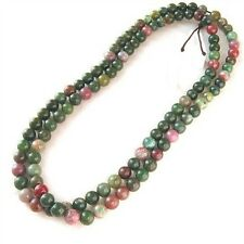 Delicate 108 6mm Natural Indian Jade Buddhism Prayer Beads Mala Necklace -25""