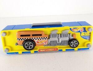 Vintage 1998 Mattel Hot Wheels Way 2 Fast 6 Car Carrying Case