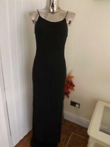 PAPAYA BLACK STRAPPY BEACH STYLE LONG MAXI DRESS SIZE 10 LADIES BNWT LOW BACK