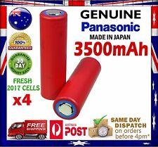 4x Panasonic NCR 18650 GA 3500mAh Li-Ion Rechargeable Battery GENUINE 10 Amp
