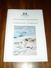 Rare Siberian Husky Dog Book Kennel Club Art Gallery Exhibition Catalogue Sled