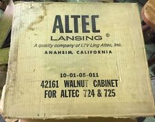 ALTEC LANSING WALNUT Cabinet CASE NEW IN BOX FOR ALTEC 724 & 725 RARE!!! 42161