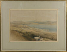 David Roberts - Early 19th Century Lithograph, Tiberias On The Sea Of Galilee