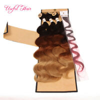 Body Wave Hair Machine Double Weft Bundle Lace Closure sew In Hair Extensions