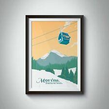 More details for morzine ski resort travel poster - framed - vintage - bucket list prints