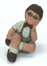 Sarah's Attic Little Boy In Glasses Granny's Favorites Figurine Schoolboy