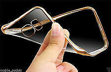 CHROME BORDER Transparent TPU Back Soft Cover For LENOVO A 2010 A2010