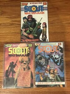 SCOUT WAR SHAMAN LOT OF 3 - #1 #2 #3 (VF/NM) ECLIPSE COMICS