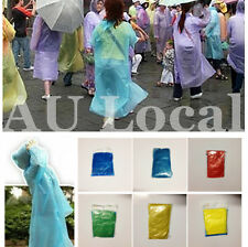 4pcs Disposable Raincoat Hooded Travel Camping Fishing Cycling Poncho ORACO01x4