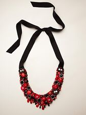 Exclusive RANJANA KHAN Designer Coral and Onyx Necklace