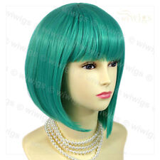 Wiwigs Stunning Short Jade Green Bob Skin Top Cosplay Ladies Wig
