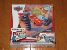 Disney Pixar Cars Action Shifters Luigi's Tire Shop Playset NEW