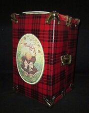 Vintage Muffy Vanderbear Carrying Trunk / Case Red Plaid