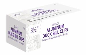 Diane 24 pk Aluminum Duck Bill Silver Hair Clips #D20