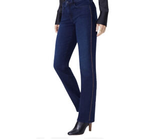 """Designer Not Your Daughter's Jeans (NYDJ) """"fallen"""", BNWT, Blue, Stretchy, Size12"""
