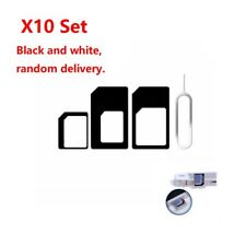 10Pcs Adapter Converter Nano SIM Card To Micro Standard Card For iPhone 5 6 6S