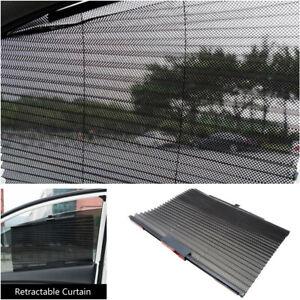 1Pcs Car Truck Retractable Side Window Curtain Summer Sun Shield Blind Universal