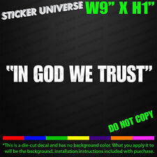 IN GOD WE TRUST Parenthesis Car Window Decal Bumper Sticker Christian Cops 0515