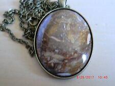 Petrified Bog Agate Necklace