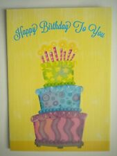 """""""HAPPY BIRTHDAY TO YOU"""" CAKE WITH CANDLES GREETING CARD + DESIGNER ENVELOPE"""