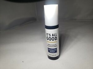 It's All Good Headache Relief Essential Oil Blend Roll On 100% All Natural
