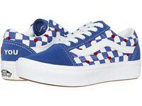 Vans Sneaker Old Skool ComfyCush Autism Awareness Heart Back Kids Girl Size New