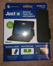 """JustIn Power Case With BlueTooth Keyboard For 7"""" Tablet"""