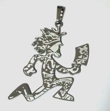 "Hatchetman ""Joker Card"" Polished Stainless Steel pendant w/30 inch ball chain"