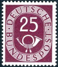 Alemania 1951 25pf Ciruela SG 1053 V18088 ligeramente montados como nuevo