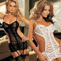 Hot Ladies Sexy Lingerie Women Underwear Babydoll Sleepwear Lace Dress G-string
