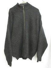 LL Bean Mens Sweater Size XL X-Large Long Gray Full Zip W. Pockets Made In USA
